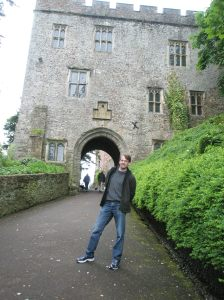 Entrance to the castle of Dunster at Exmoor